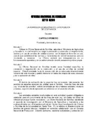 Ley de Semillas No.6289, Año 1978