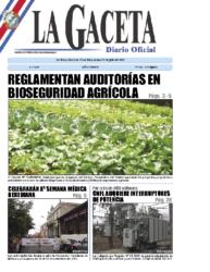 Reglamento de Auditorías en Bioseguridad Agrícola