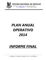 Informe Labores – Año 2014
