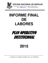 Informe Labores – Año 2015