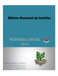 Memoria Institucional Año 2012