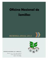 Memoria Institucional Año 2013