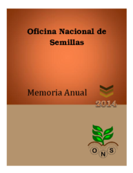 Memoria Institucional Año 2014