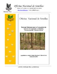 Normas Técnicas Semillas Forestales