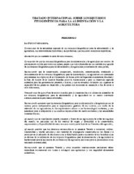 Tratado Intern. Recursos Fitogenéticos