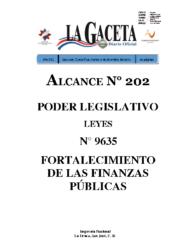 Ley 9635 -Fortalecimiento de Finanzas Públicas