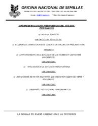 Evaluacion presupuestaria 2019