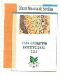 Plan Anual Operativo – Año 2016