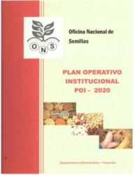 Plan Anual Operativo – Año 2020