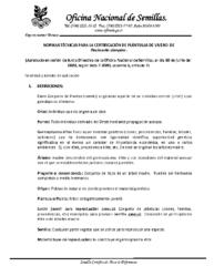 Normas Técnicas Semilla de Paulownia elongata