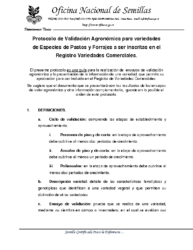 Protocolo validación agronómica pastos y forrajes
