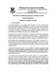 Protocolo validación agronómica tomate